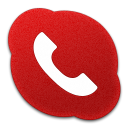 Skype Phone Red